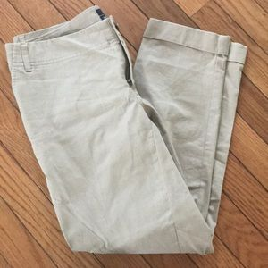 Tan Gap cropped stretch Hadley pants size 2